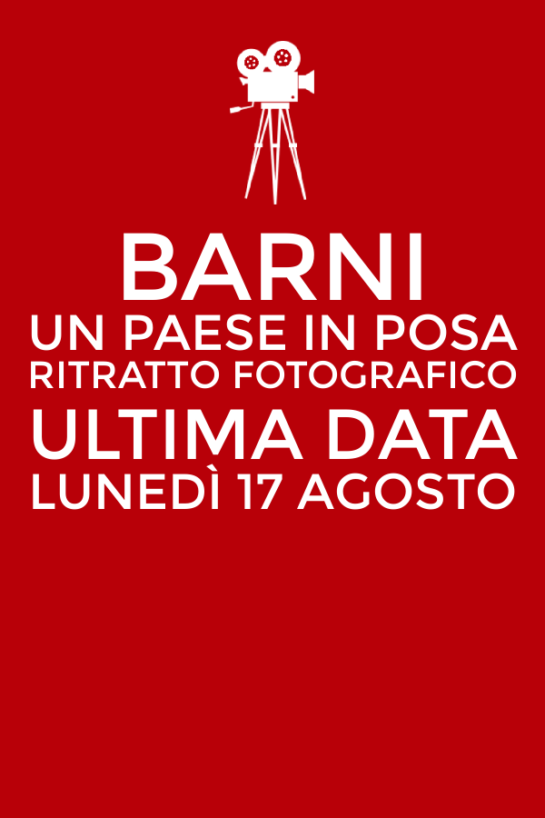 Save the date. Il 17 agosto è l'ultima data per Barni. #unPaeseInPosa